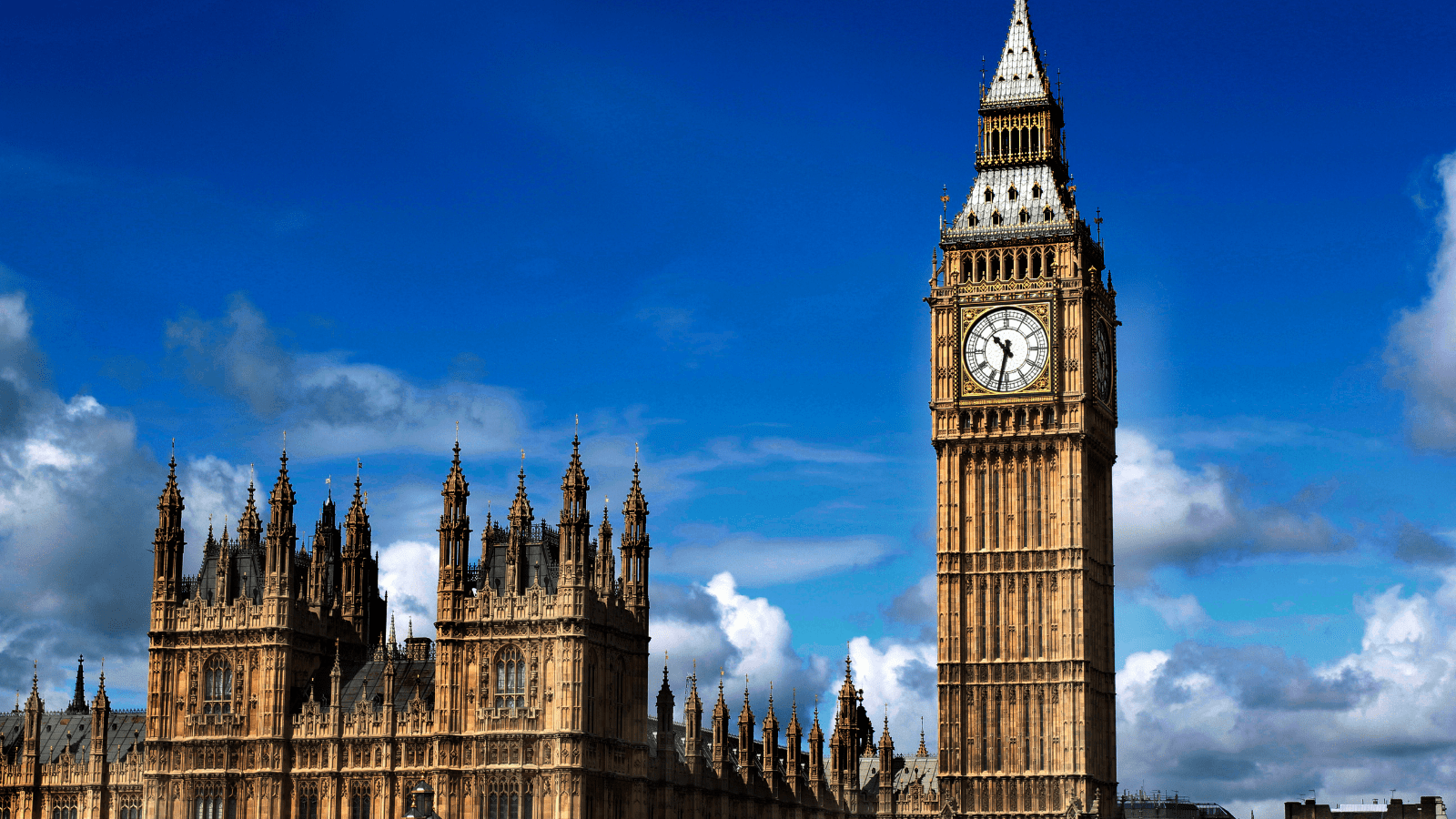 Big Ben And The House Of Commons In London, United Kingdom